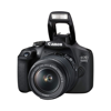 CANON EOS 1500D 24.1MP DIGITAL SLR CAMERA (BLACK) WITH 18-55 AND 55-250MM IS II LENS (Front View)