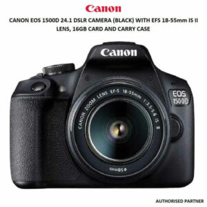 CANON EOS 1500D DIGITAL SLR CAMERA (BLACK) WITH EF S18-55 IS II LENS